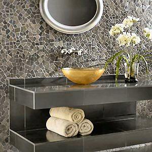 Pebbles & Rock Backsplashes, Floors, Tile Decoration - Information ...